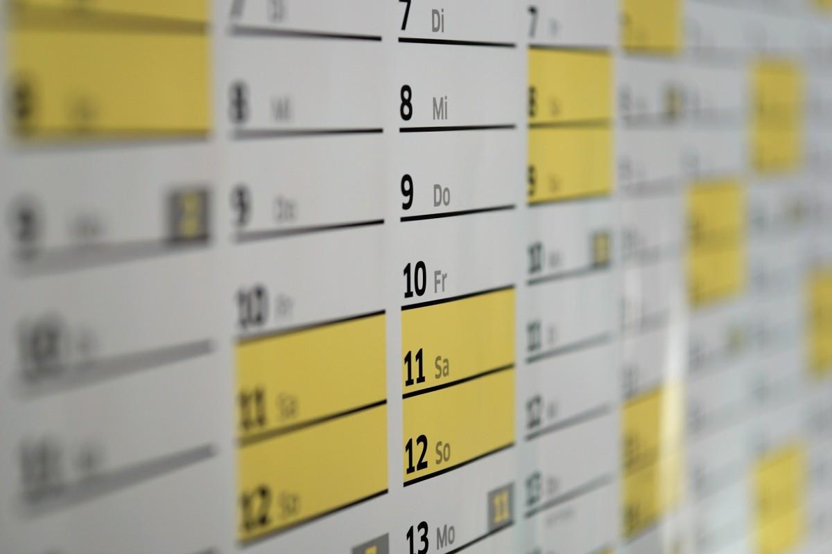 Octubre activo: nuestro calendario provisional