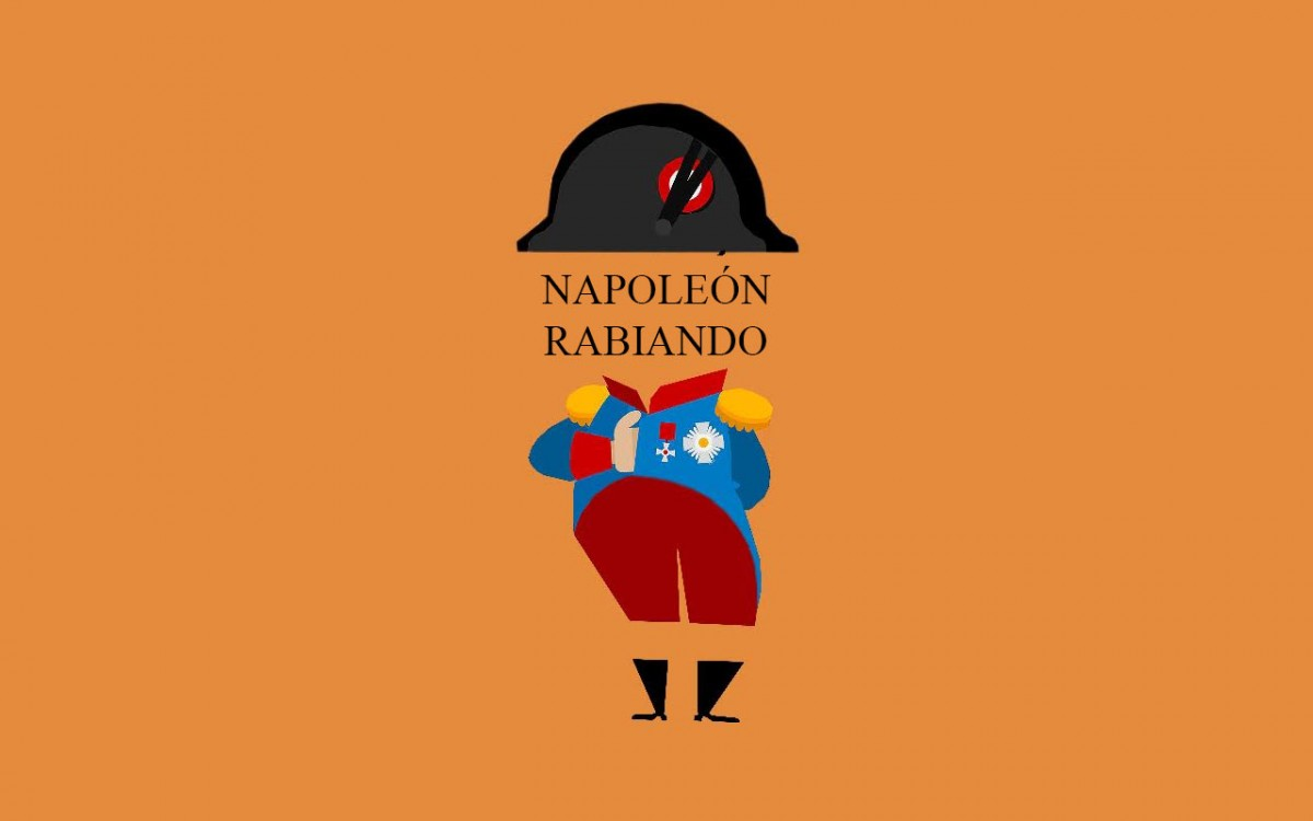 Napoleón rabiando, en Comillas